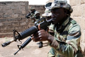 Photo of Senegalese and Malian State soldiers