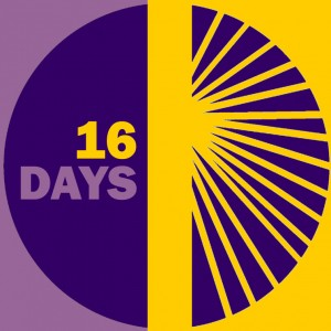 16 Days of Activism against Gender Violence campaign logo