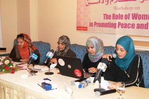 Photo of women at HRITC workshop in Yemen