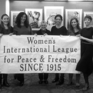 Picture of PeaceWomen staff and Cynthia Enloe