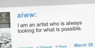 Ai Weiwei's Twitter comment