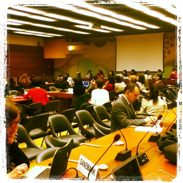 Photo of a side event on violence against women