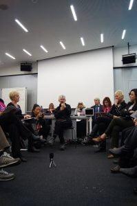 Cynthia Enloe hosting the third panel of the Geneva Peace Summit 2014