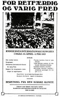 Front cover of the booklet- for retfardig og varig fred