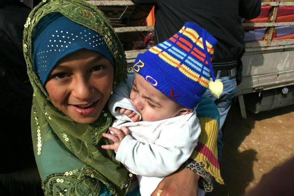 Children in the refugee camp