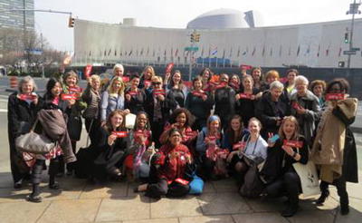 Photo of the WILPF delegation at CSW 2014