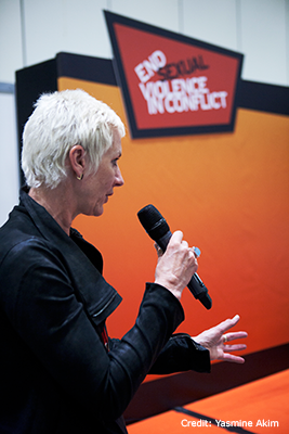 Madeleine Rees speaking