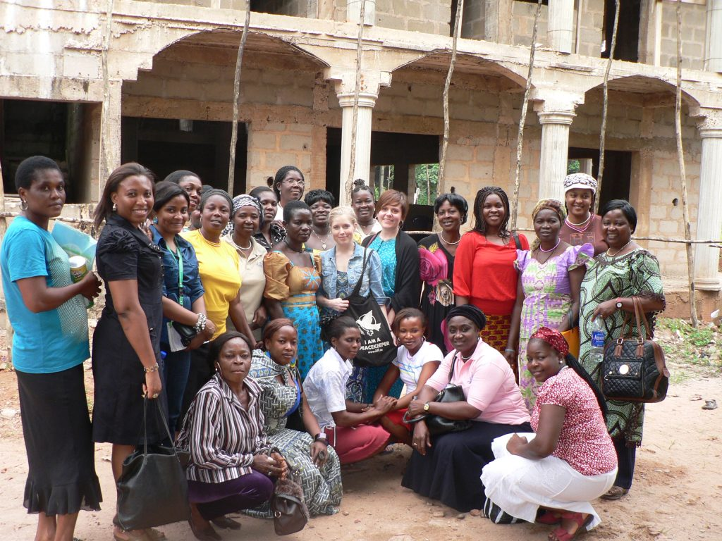 WILPF DRC, WILPF Nigeria and WILPF Sweden meet in Nigeria in 2013.