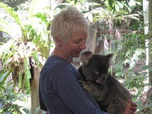 WILPF Secretary General Madeleine Rees with her newfound Australian friend.