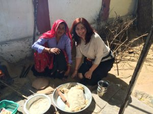 Shilpa Pandey with Meena-Roti Maker