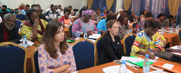 The conference was organised with the support of WILPF Sweden, and participants came from the WILPF Sections in Ghana, Nigeria and DRC, as well as from new emerging groups from Chad, South Africa and Burundi.