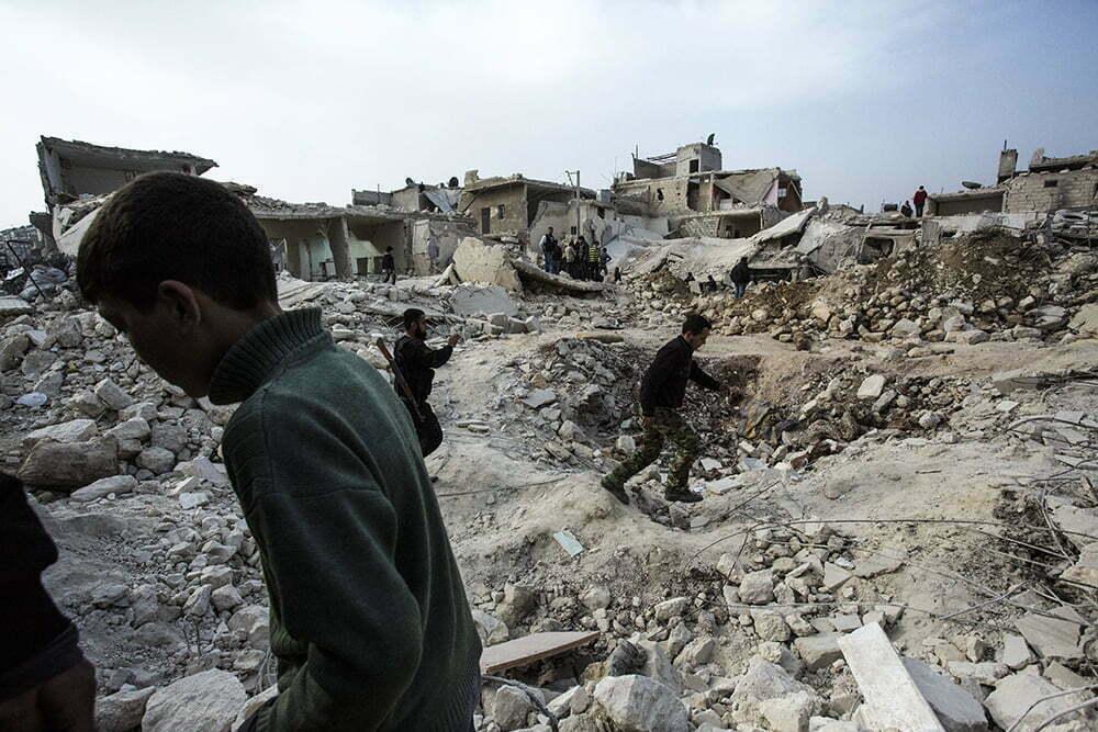 Photo from scud attack in Aleppo, 26.02.13