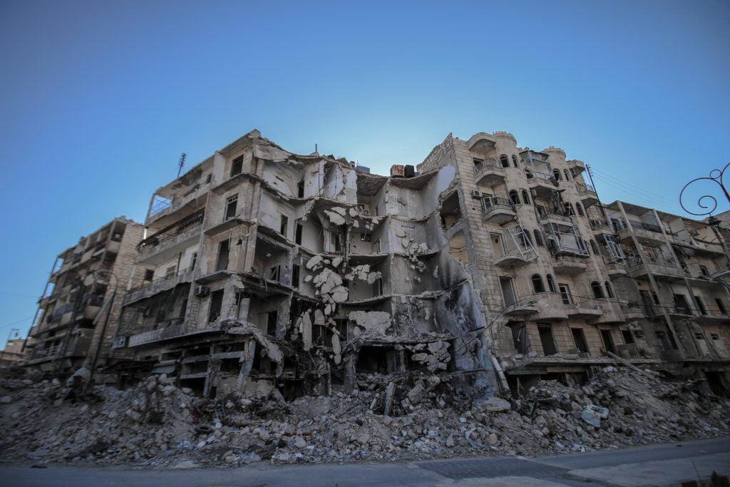 Scene in Eastern Aleppo City, Syria. Photo: Ismael Abdulrahman /IDA.