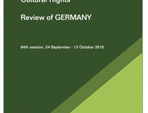 Submission to the Committee on Economic, Social and Cultural Rights, Review of Germany