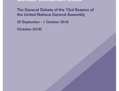 United Nations General Assembly 73 Gender-Militarism Index