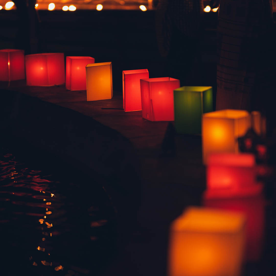photo of lanterns with candles inside