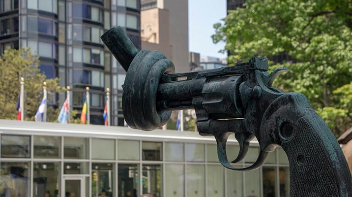The Knotted Gun sculpture
