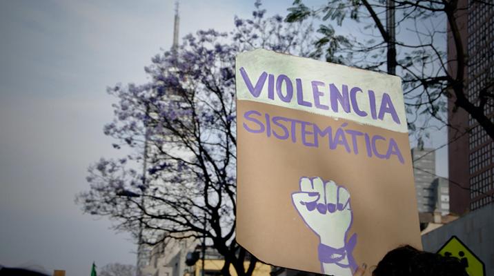"""""""Violencia sistemática"""" sign"""