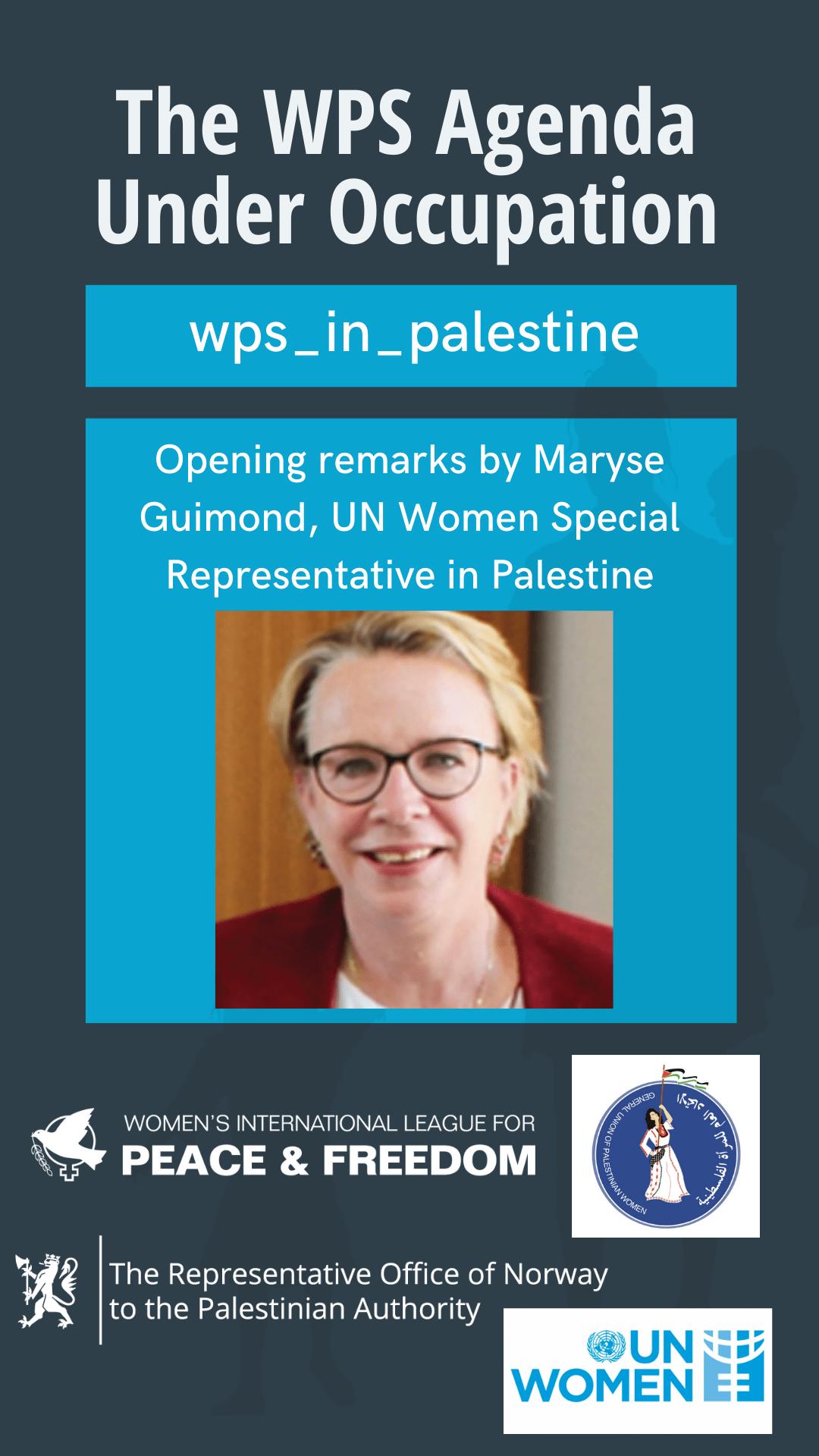 Maryse Guimond, UN Women Special Representative in Palestine