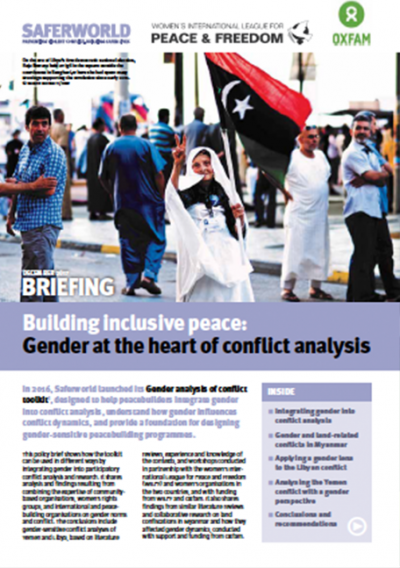 Cover of Building Inclusive Peace report