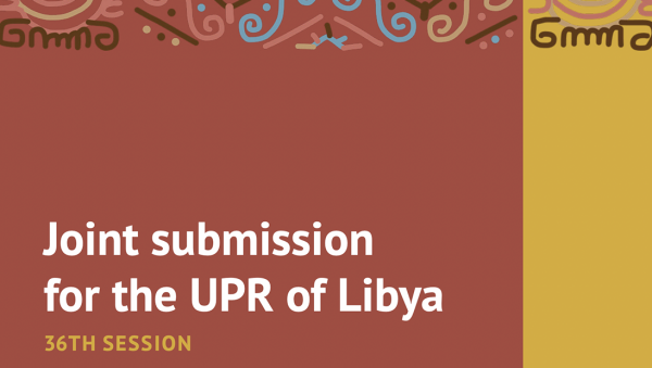 Libya UPR 2020 joint submission cover