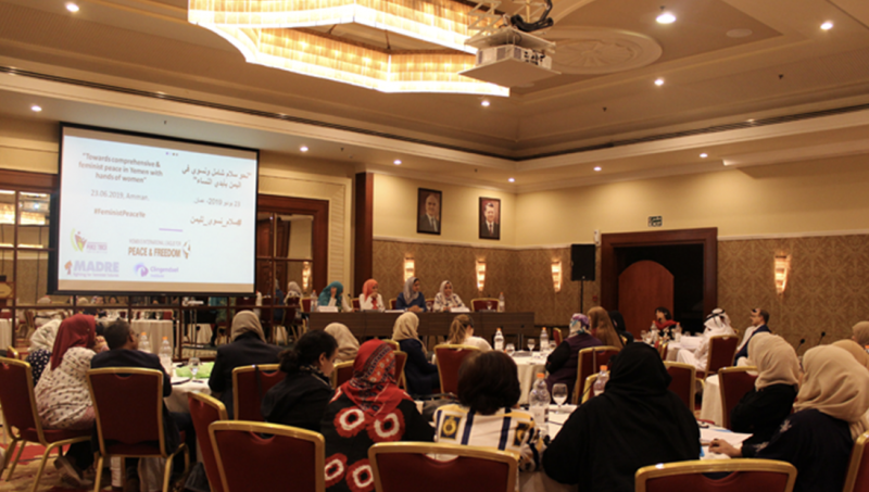 Women sitting in a conference hall at Yemen Convening 2019
