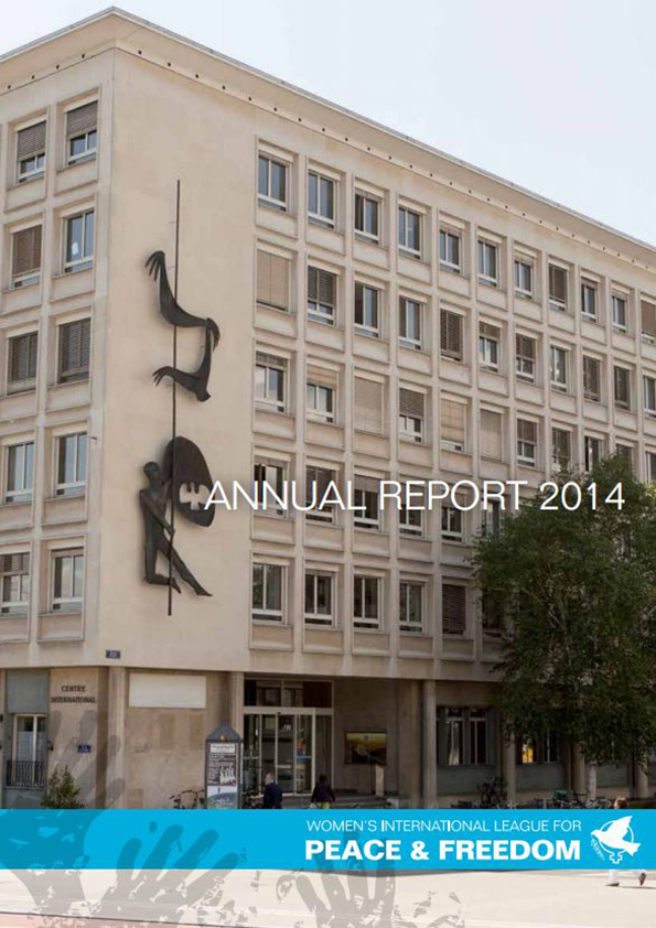 Cover of WILPF 2014 Annual Report - photo of WILPF Office in Geneva