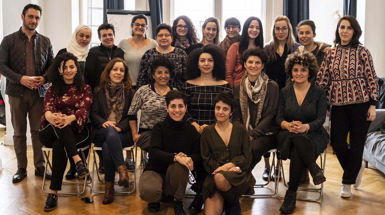 Group photo of WILPF team with Syria partners