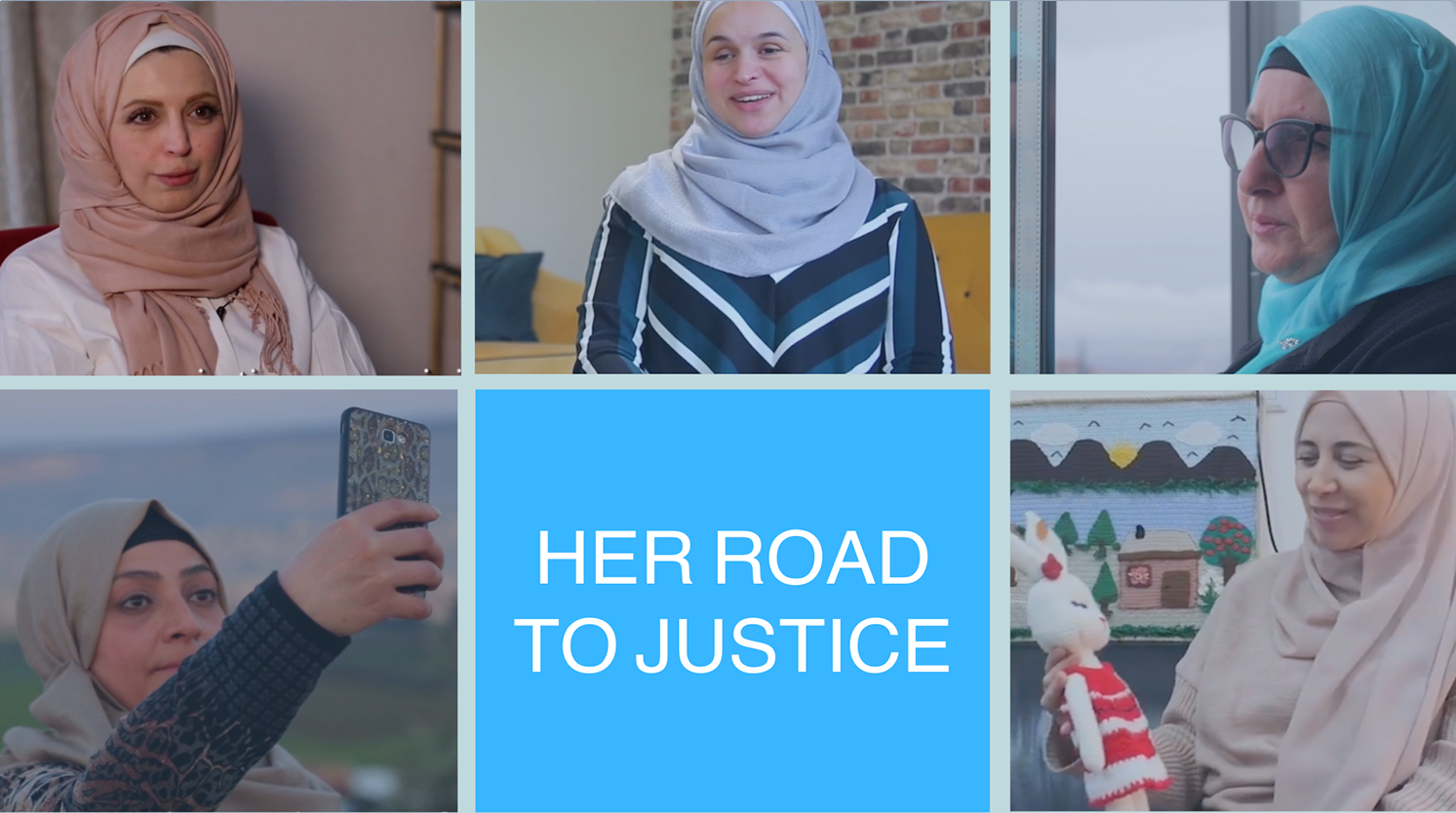 Collage photo of five Syrian Women Human Rights Activists