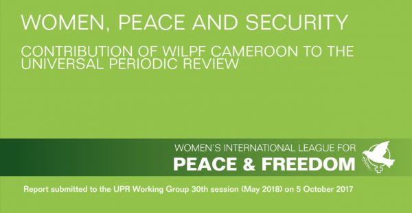 Cover of the Report submitted to the UPR Working Group for Cameroon