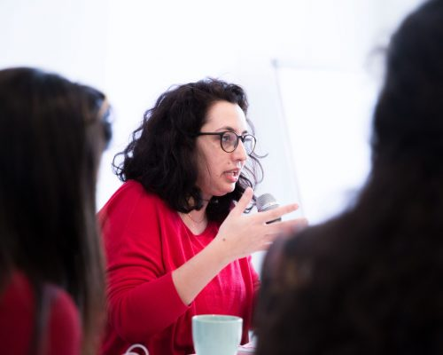 """Maria Alabdeh - """"[Syrian] women created opportunities by looking for new ways in which they could be financially independent, and by deciding to be leaders in their own communities."""""""